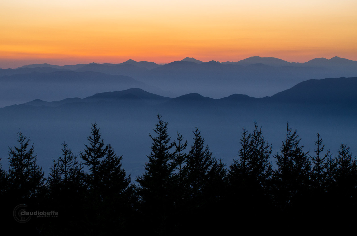Mount Fuji Blue hour Sunset Mountains Japan