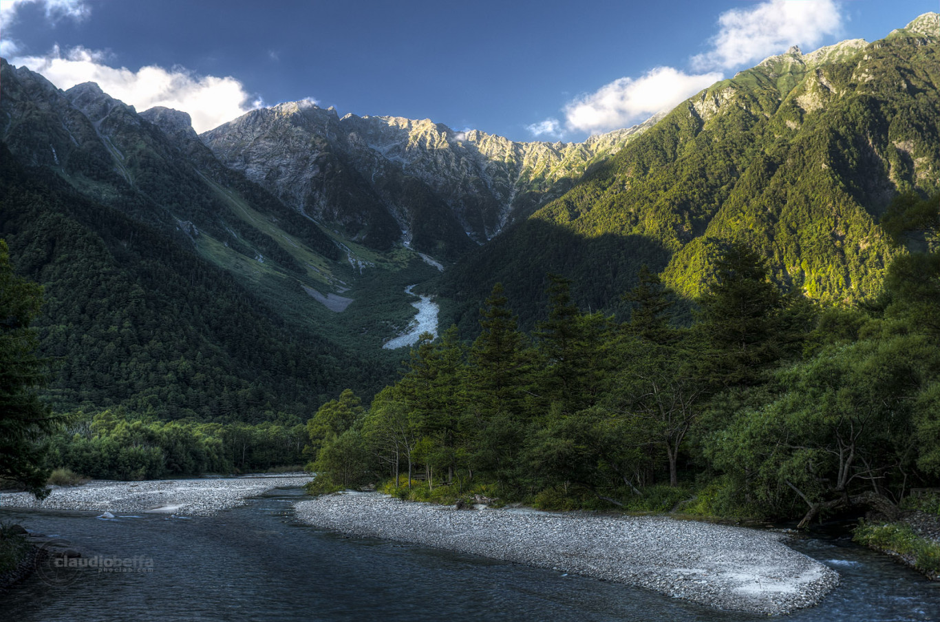 Mount Hokata Kappabashi Azusa river Chubu-Sangaku National Park Japan