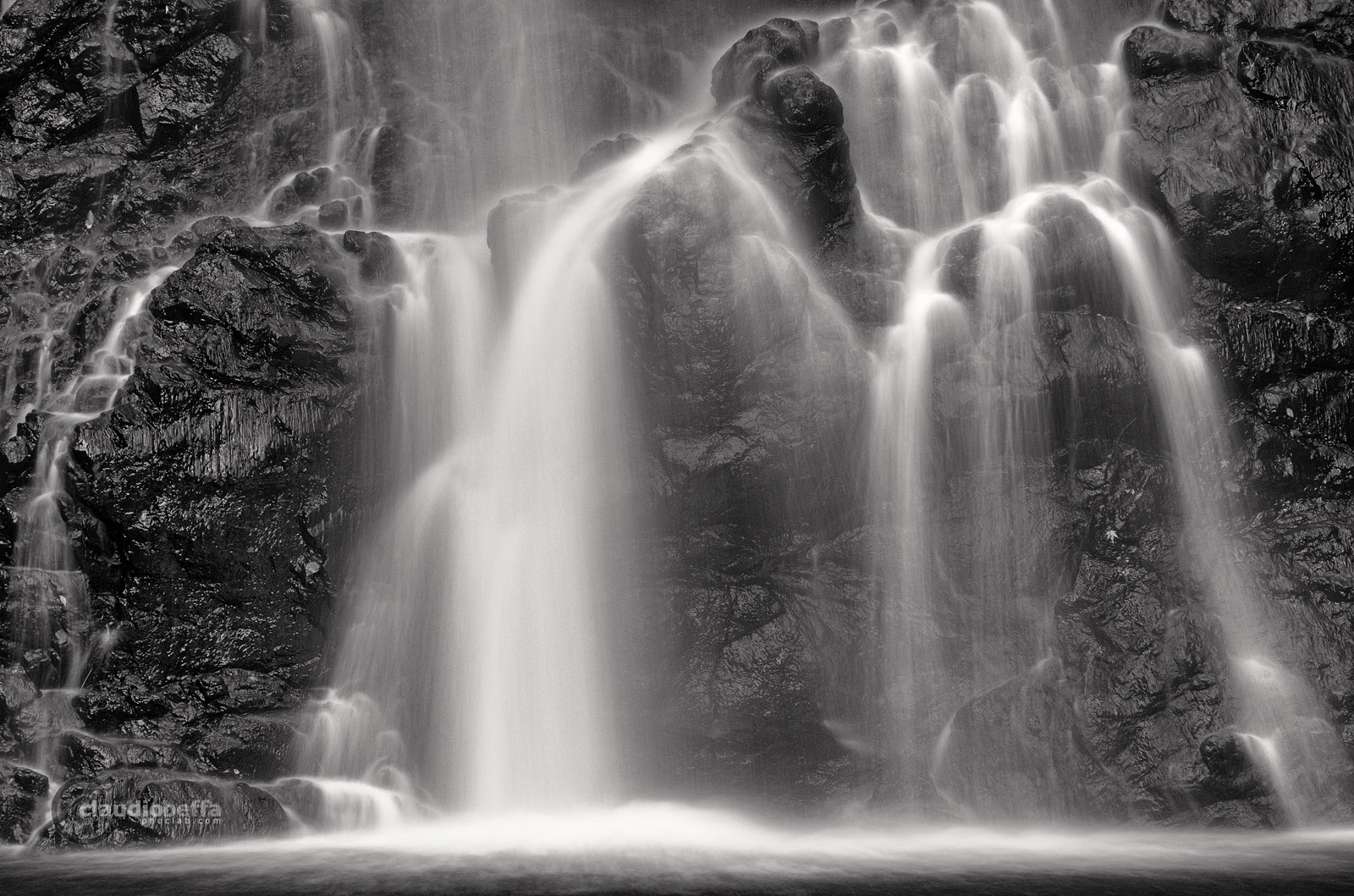 Minoh Waterfalls Osaka Japan Long exposure B&W