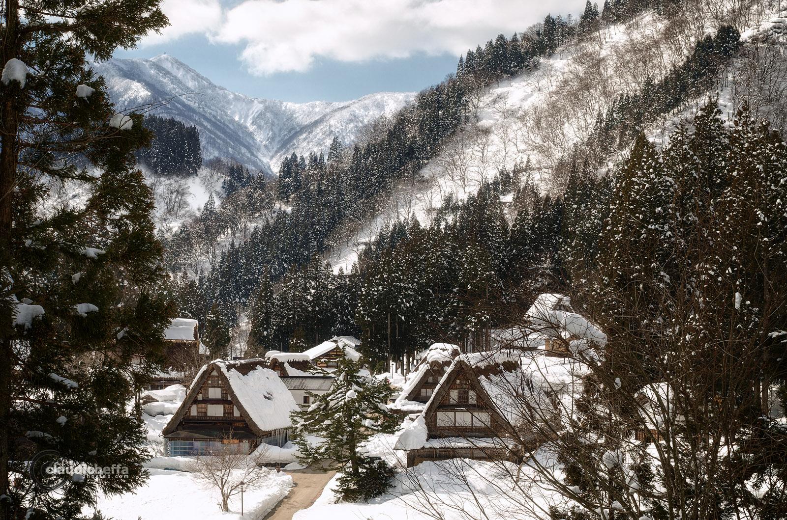 Toyama, Mountain, Ainokura, Village, Winter, Snow, Japan, Pentax