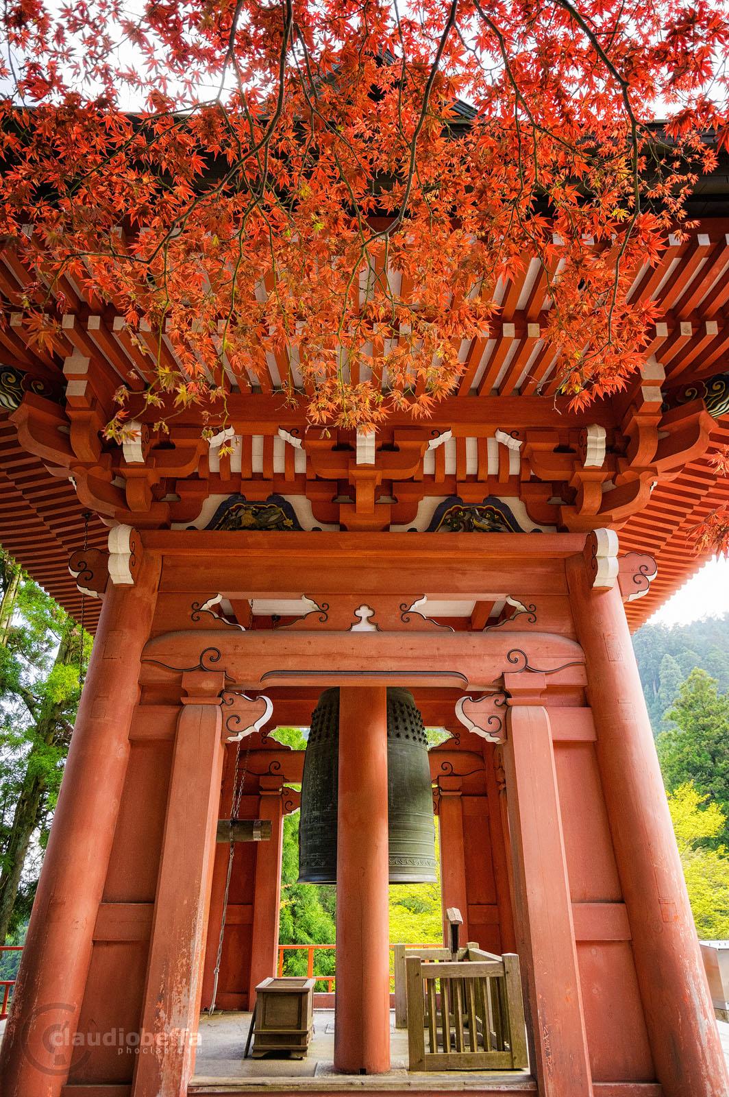 Hiei, Hieizan, Mountain, Enryakuji, Temple, Buddhism, Tower, Bell, Peace, Vermilion, Red, Momiji