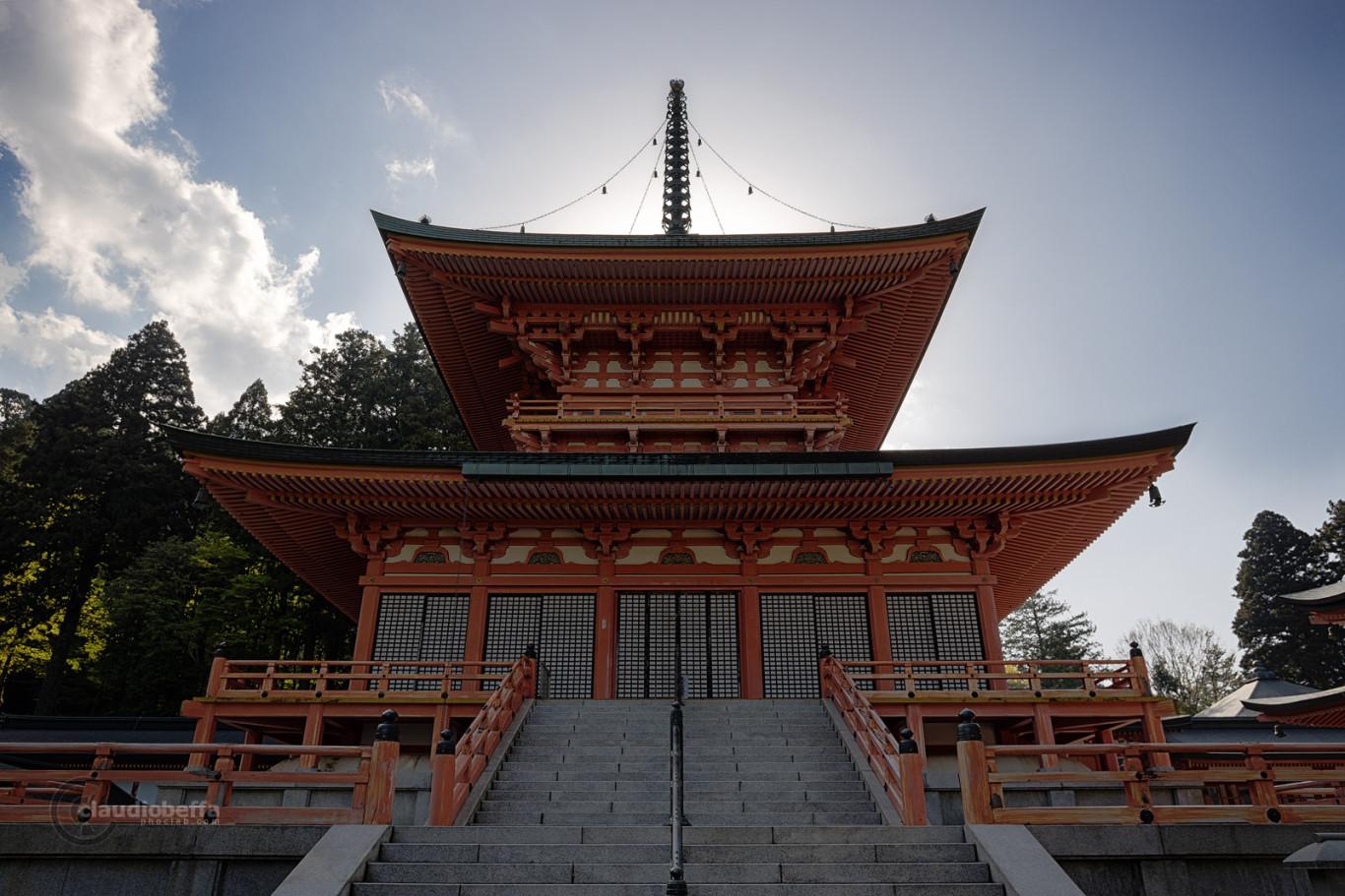 Hiei, Hieizan, Mountain, To-do, Temple, Buddhism, Tower, Pagoda, Light, Japan, Pentax