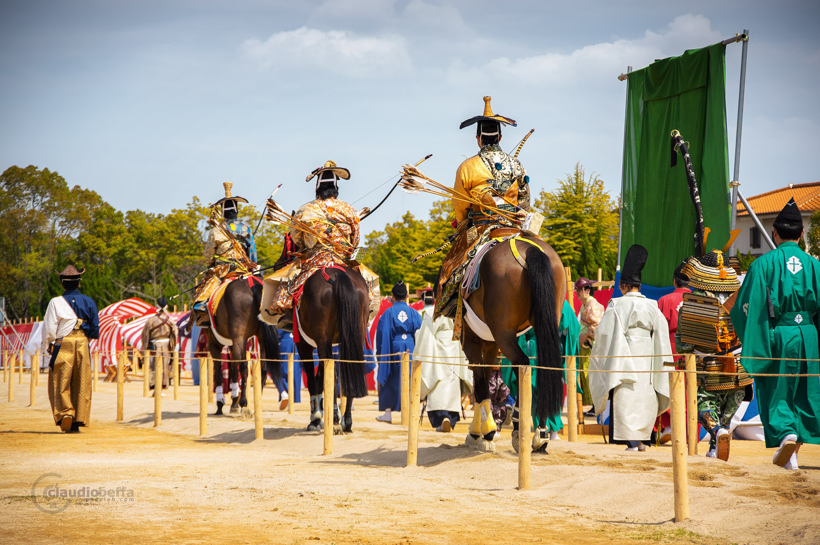 Japan, Yabusame, Traditional mounted archery, Starting point