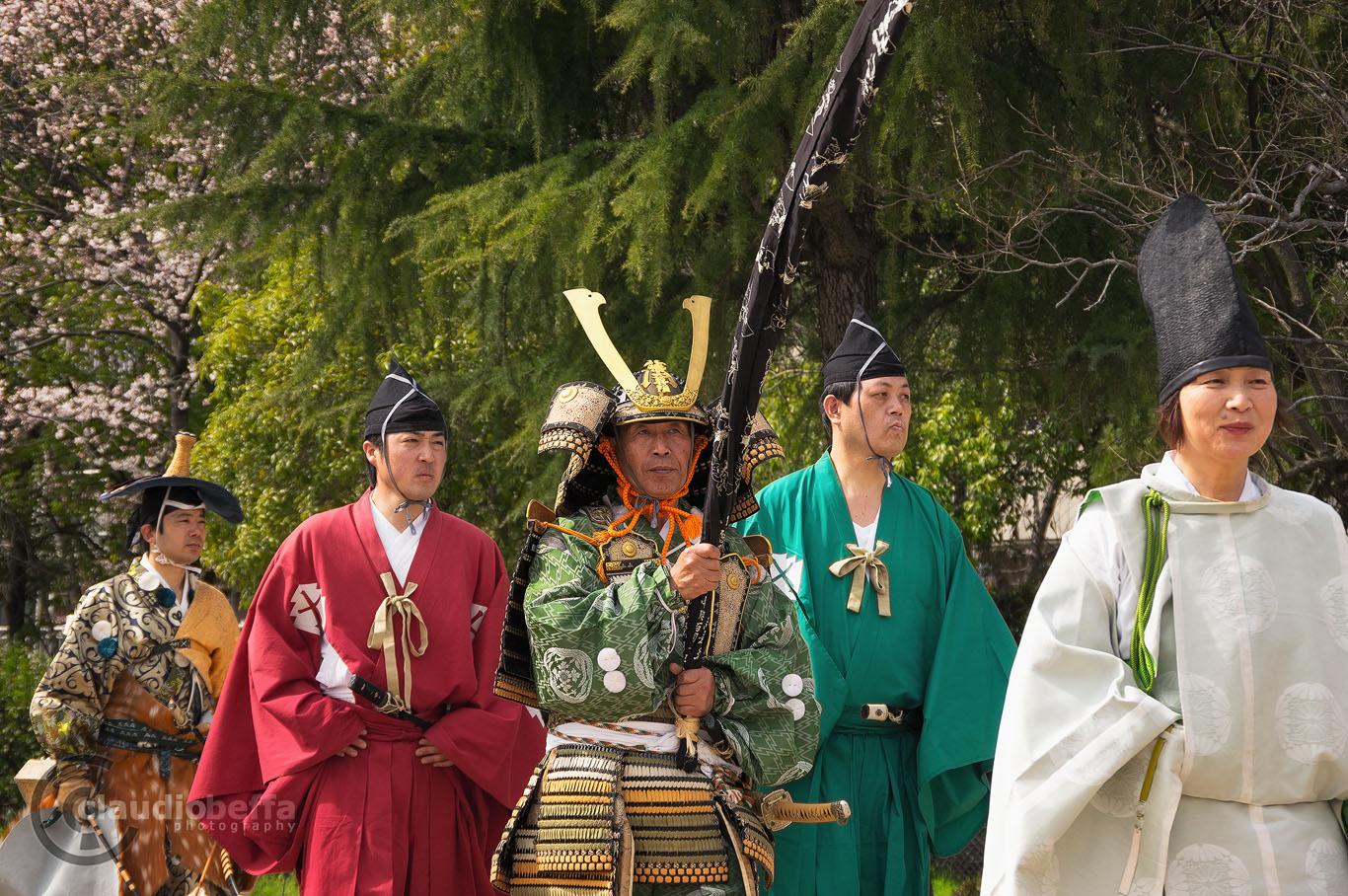 Japan, Yabusame, Traditional mounted archery, ending parade