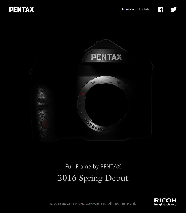 Pentax, Full Frame, DSLR, Teaser