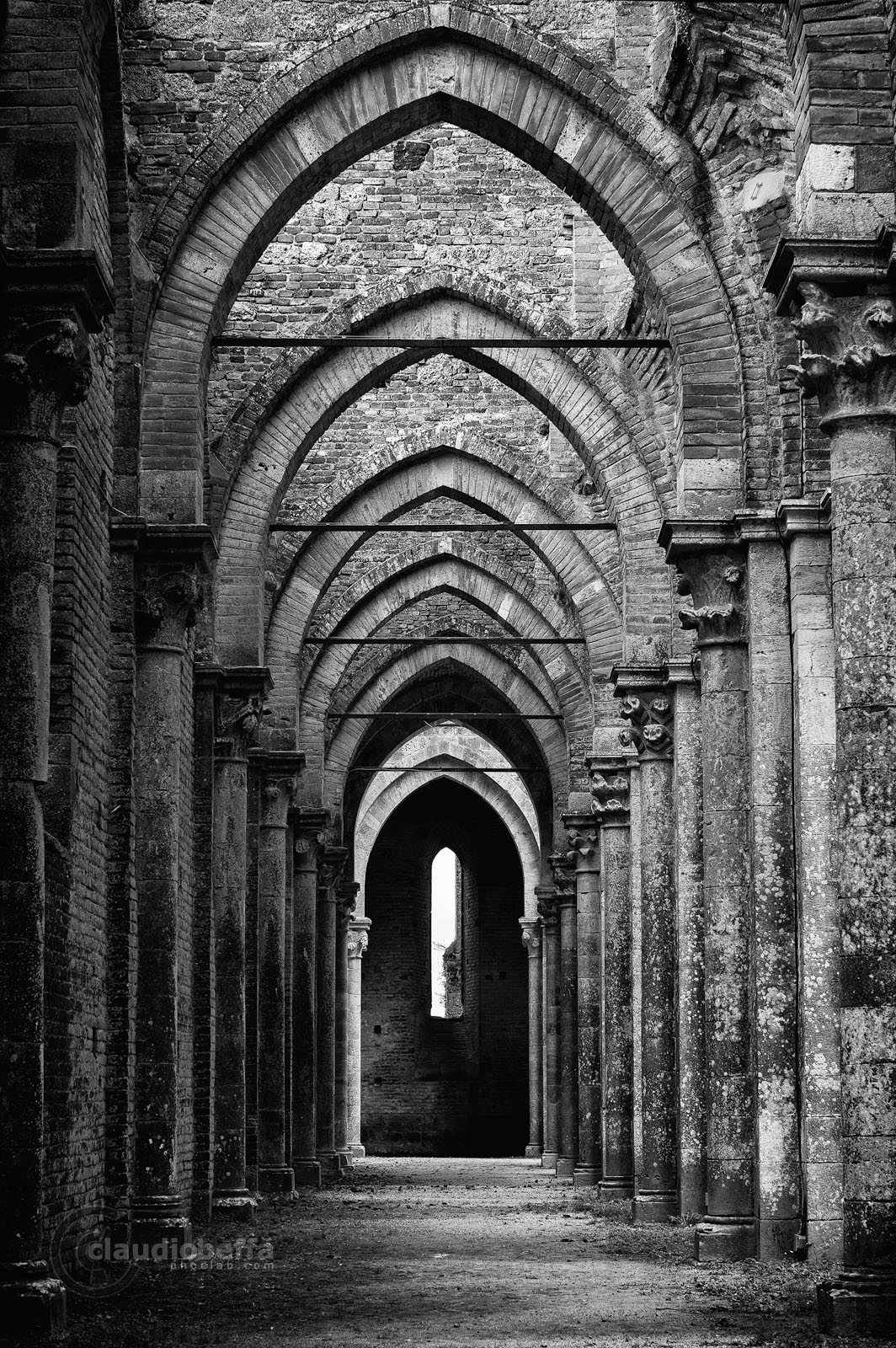 San Galgano, Abbey, Nave, Arches, Ruin, Tuscany, Italy, Nature, History, Architecture