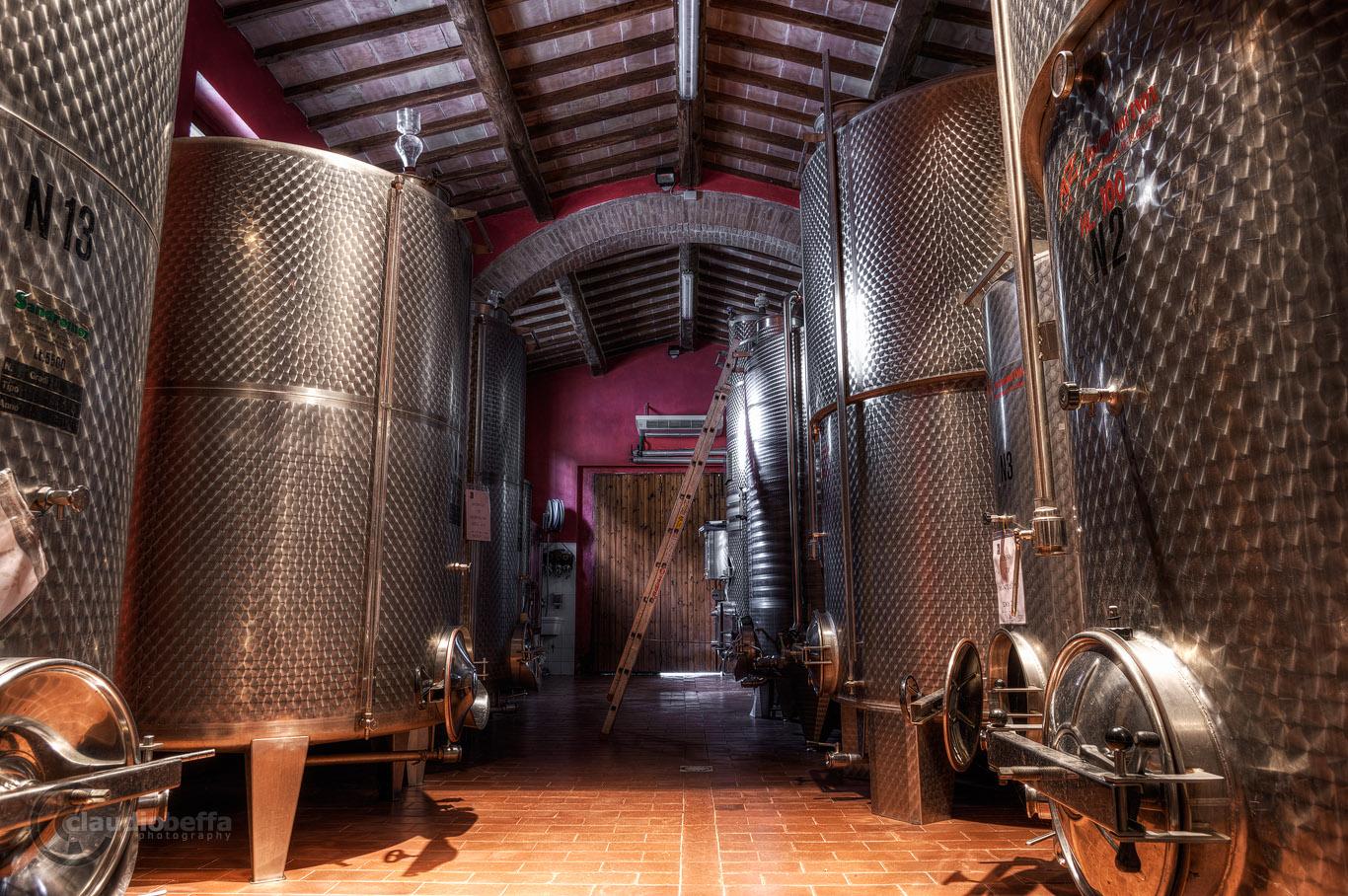 Solaria, Silos, Cellar, Fermentation, Wine, Tuscany, Toscana, Val d'Orcia, Italy, Italia, ancient wine cellars