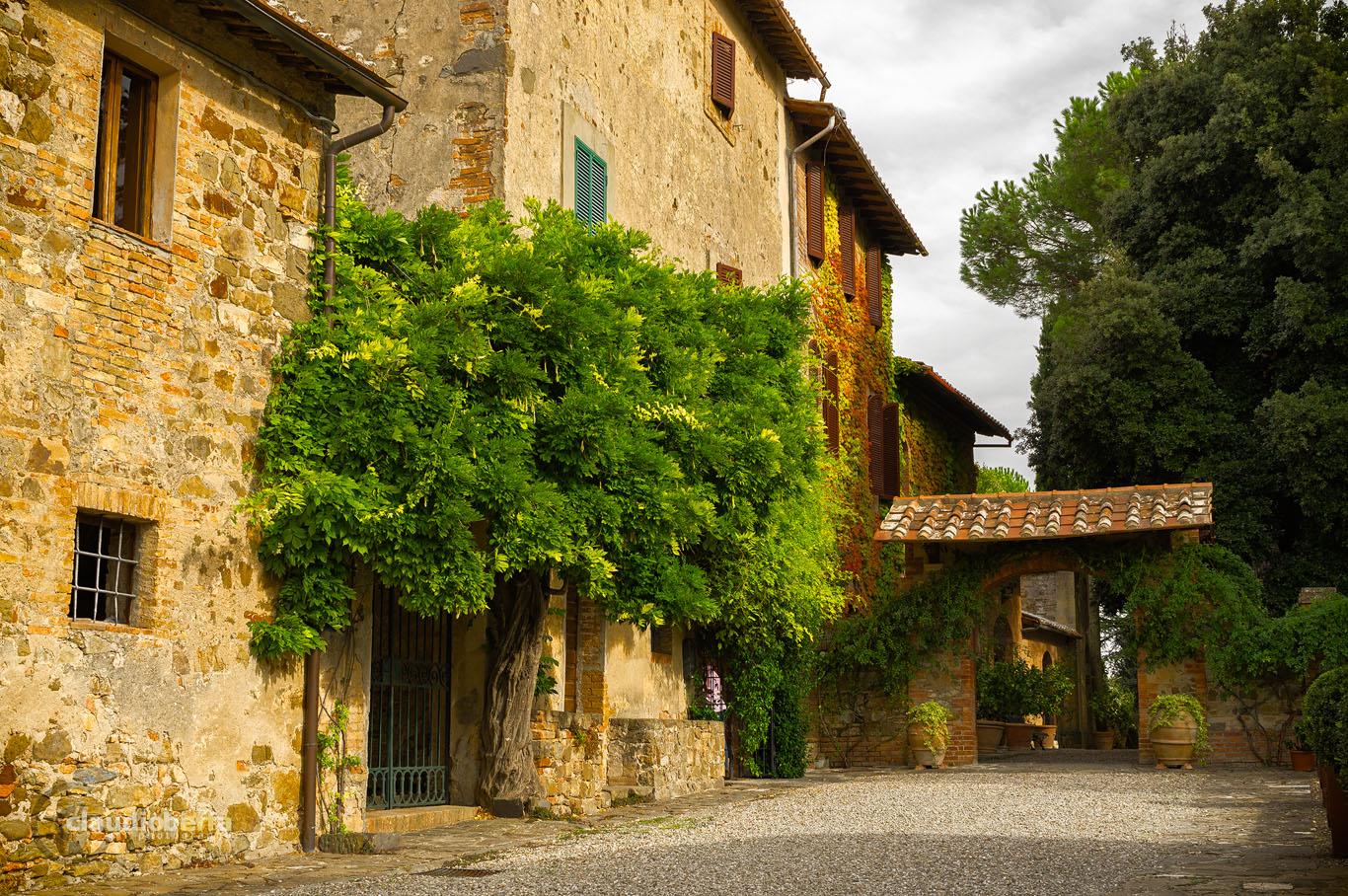 Farmhouse, Wine, Wine-making, Costanti, Tuscany, Toscana, Val d'Orcia, Montalcino, Italy, Italia, Ancient wine cellars of Tuscany