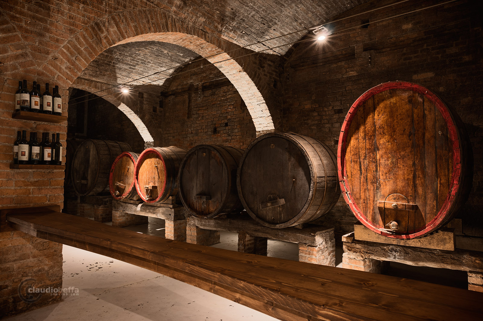 Abbey, Monte Oliveto Maggiore, Cellar, Wine, Wine-making, Tuscany, Toscana, Val d'Orcia, Italy, Italia, Ancient wine cellars of Tuscany