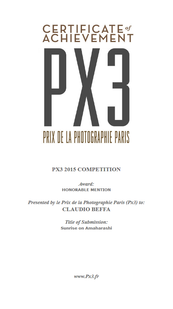 PX3, Prix, Photografie, Photography, Contest, Competition, Winner, Mention, Honorable Mention, Certificate