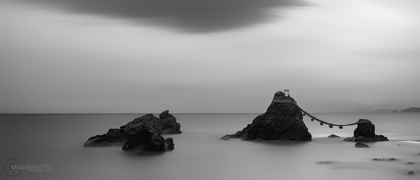 Meoto iwa rocks japan landscape monochrome awards 2015