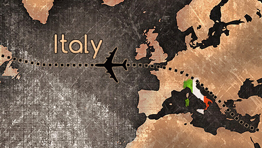 italy, map, travel
