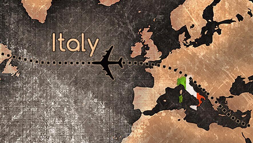 italy, map, travel