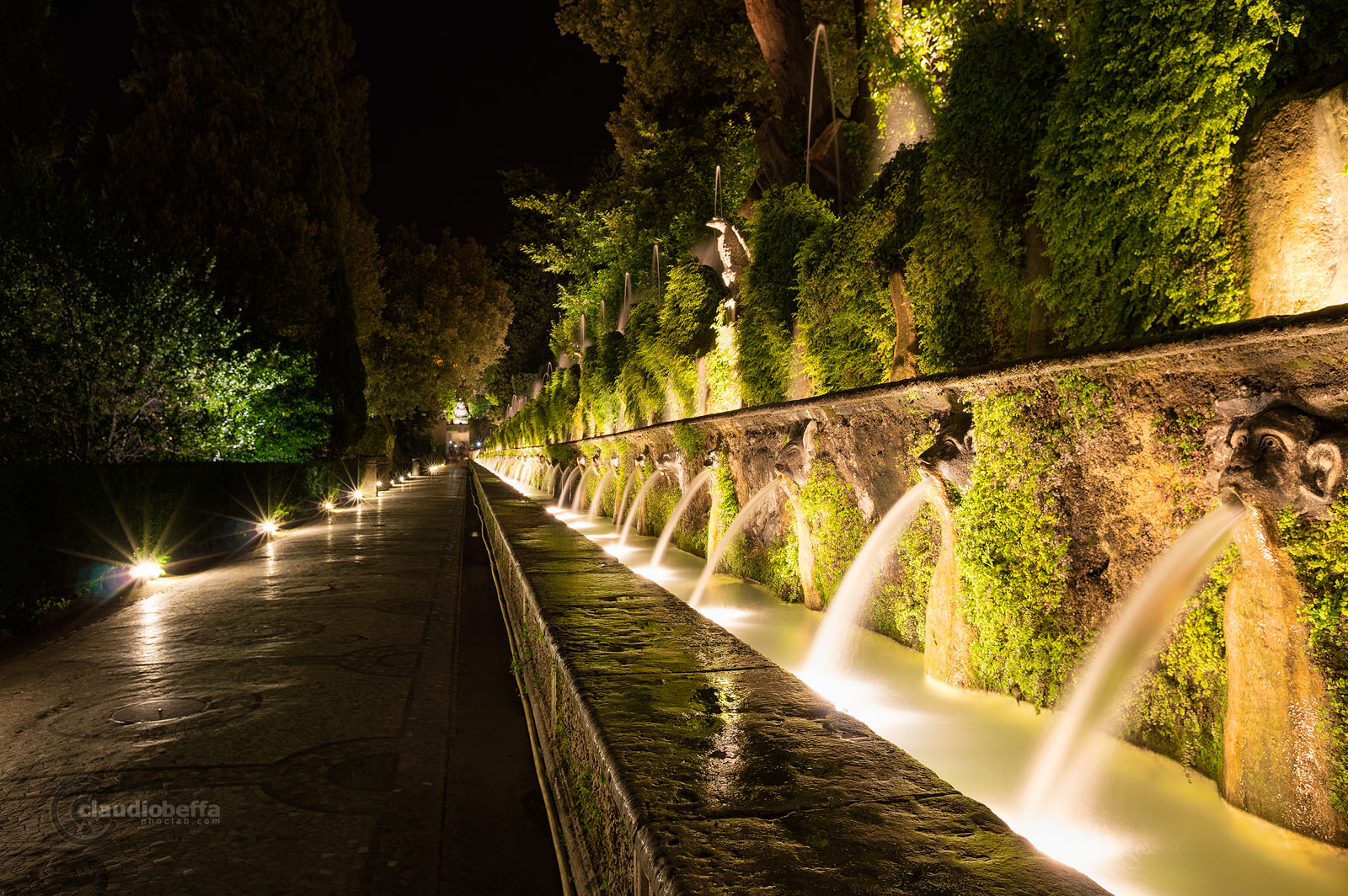 Hundred fountains, Villa d'Este, Garden, Tivoli, Italy