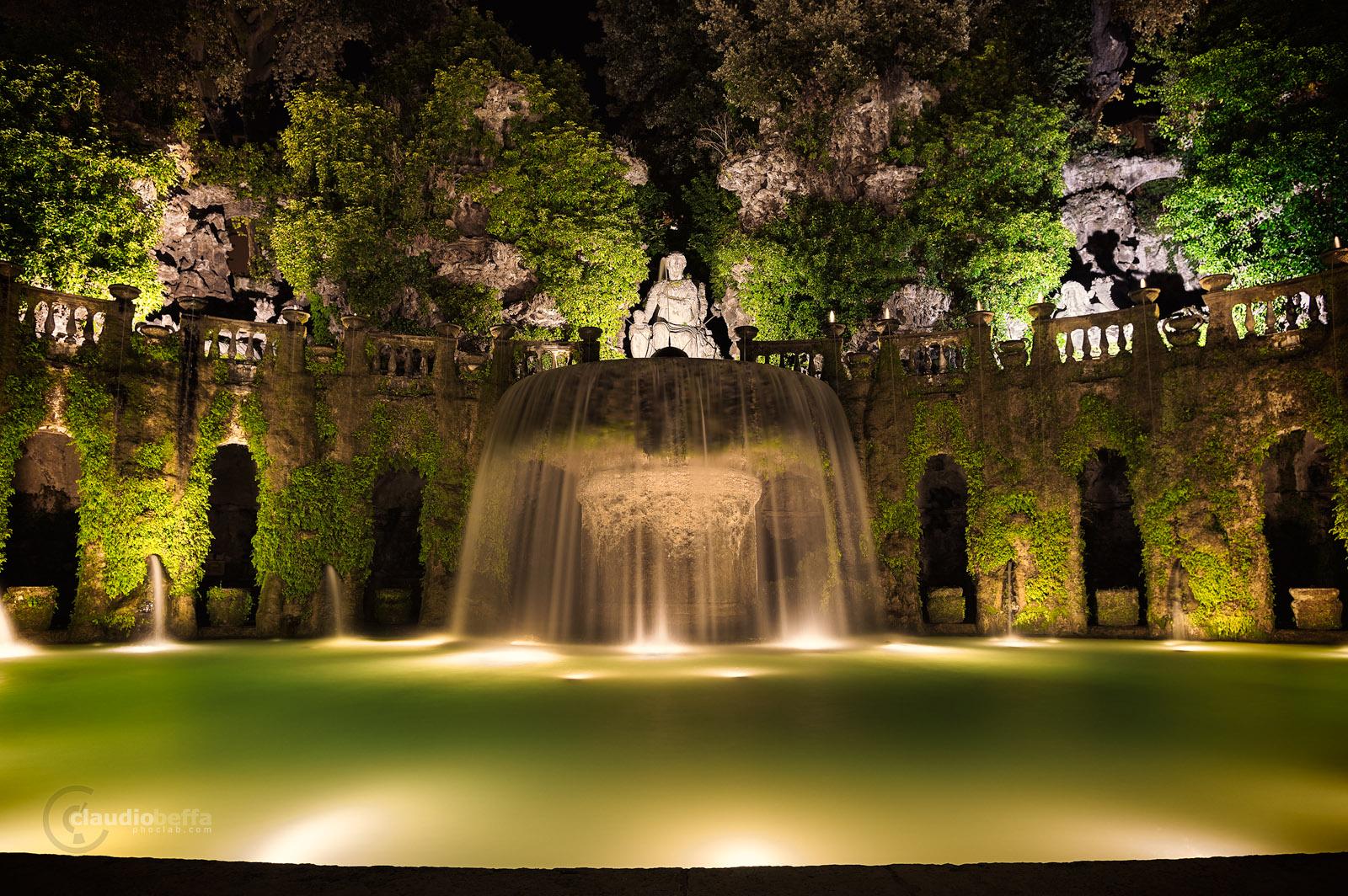 Queen, Fountain, Oval, Villa d'Este, Garden, Tivoli, Italy