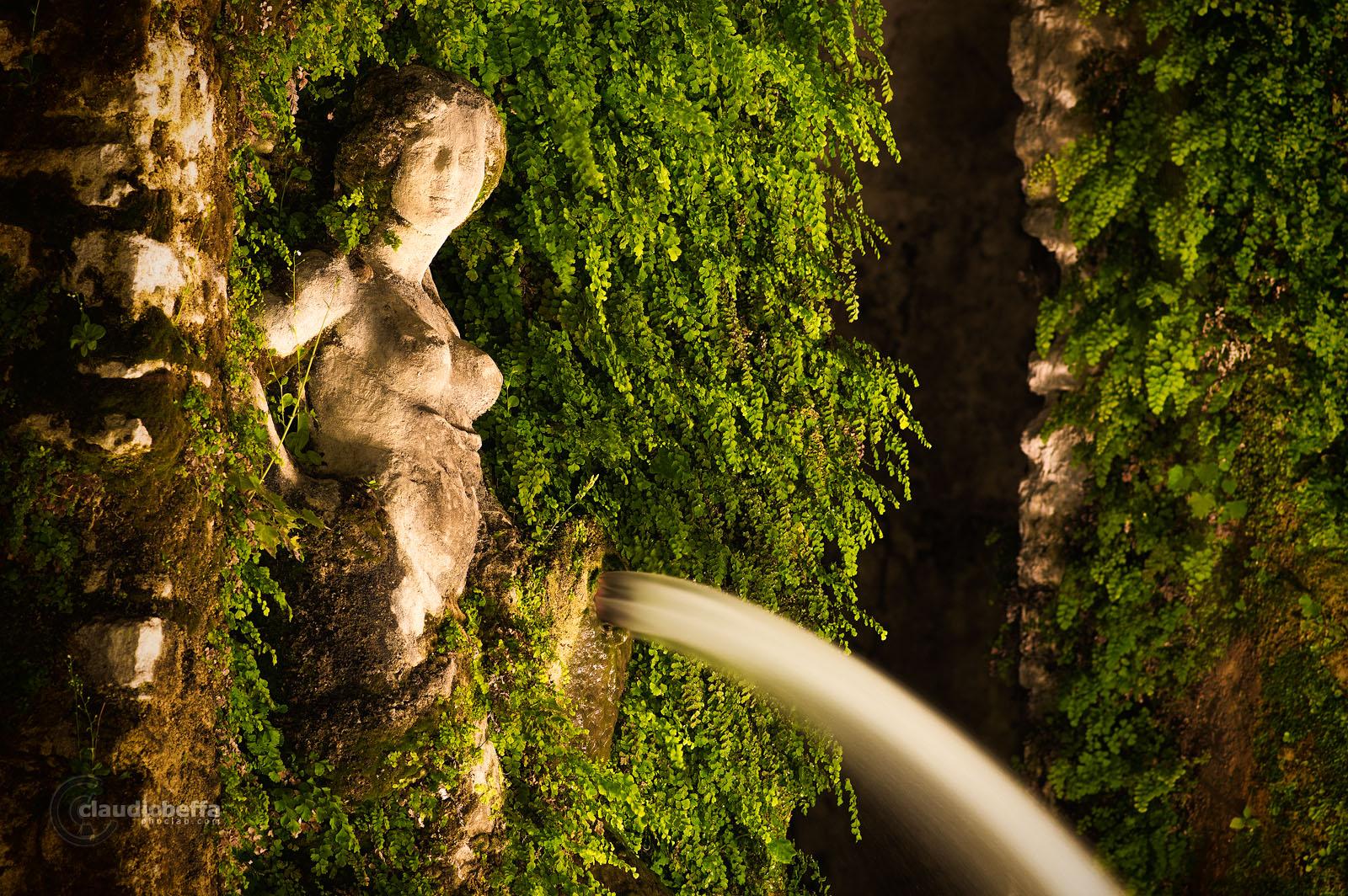 Water nymph, Villa d'Este, Garden, Fountain, Water, Tivoli, Italy