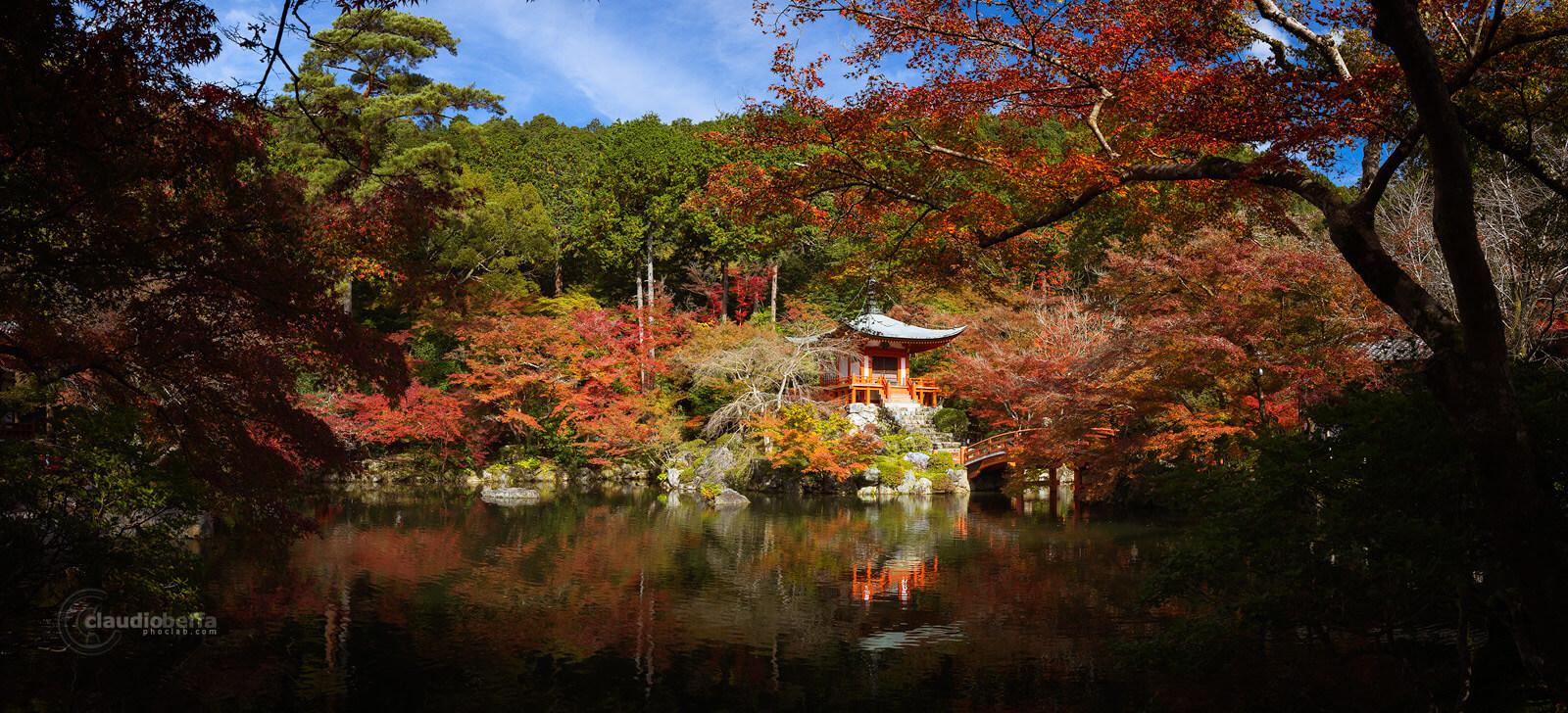 DaigoJi, Autumn, BentenDo, Autumn DaigoJi, Kyoto, Japan, Momiji, Panorama, Phoclab
