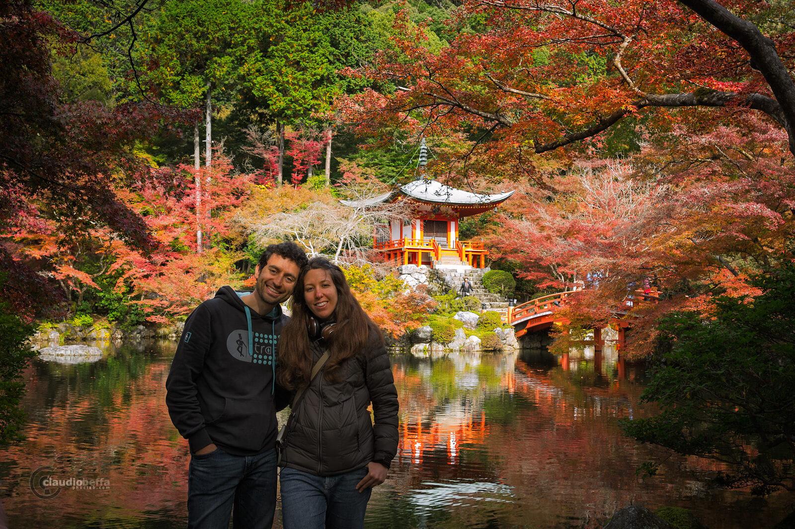 Claudio, Sara, DaigoJi, Autumn, BentenDo, Kyoto, Japan