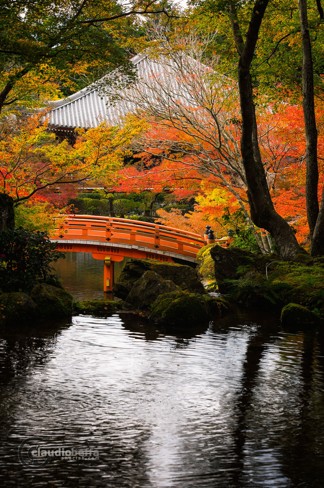 DaigoJi, Autumn, BentenDo, Kyoto, Japan, Momiji, Bridge, Pond, Passage toward autumn, Phoclab