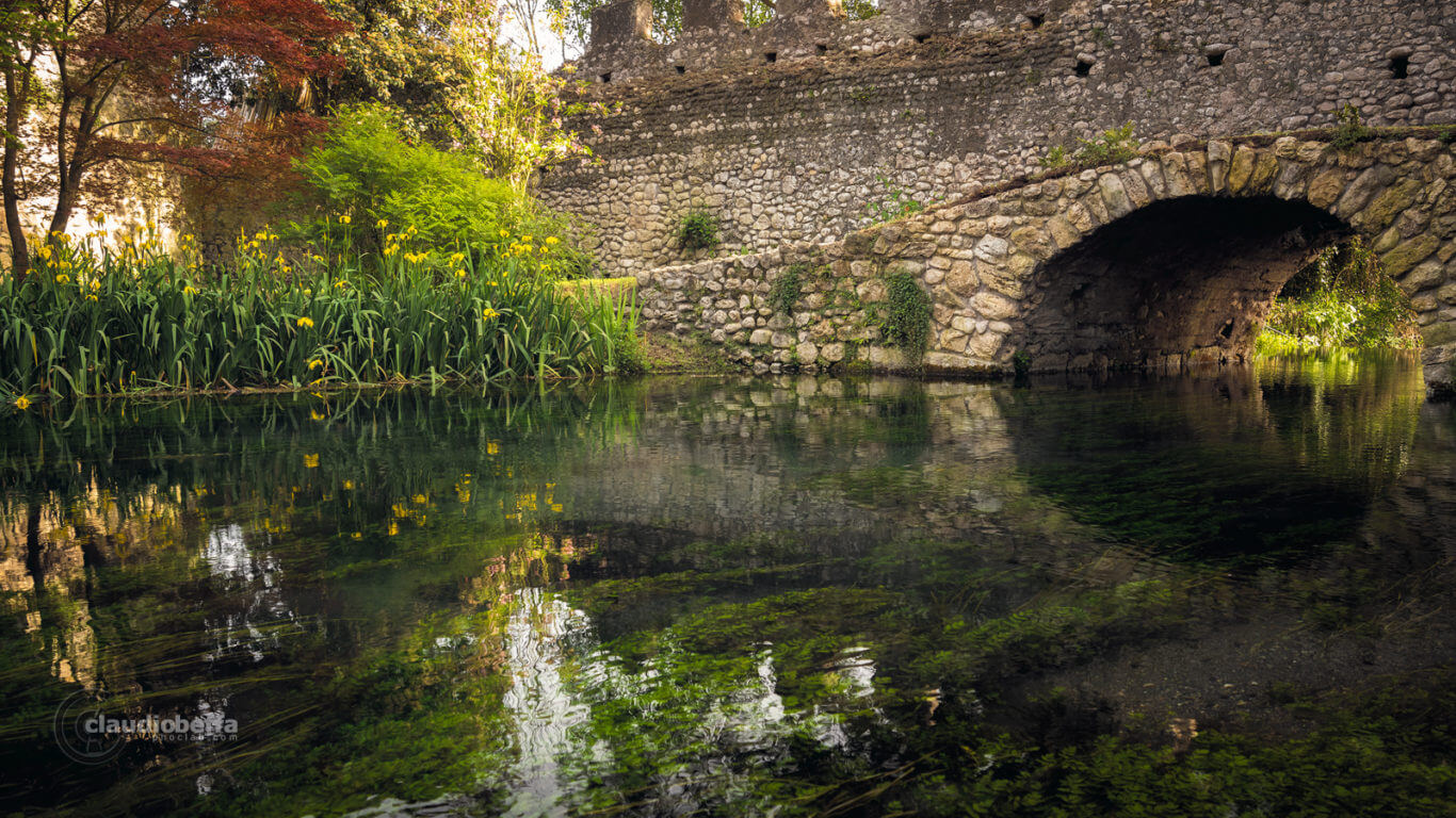 Garden of Ninfa, Garden, Ninfa, Italy, River of time, Nature, River, Bridge, Spring, Travel, Travel Photography, Ancient, Romantic