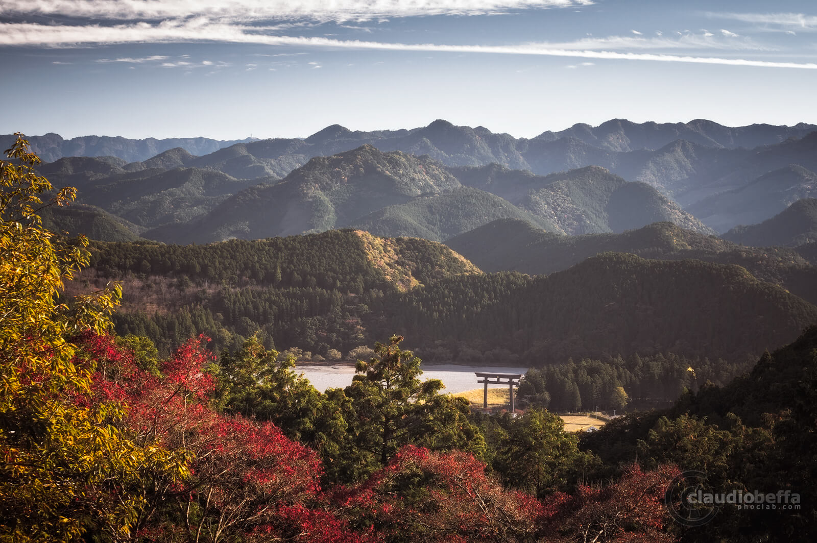 Valley of the Torii, Otorii, Autumn, Nature, Mountains, Hongu Taisha, Shrine, Shinto, Kii peninsula, Kumano, Japan