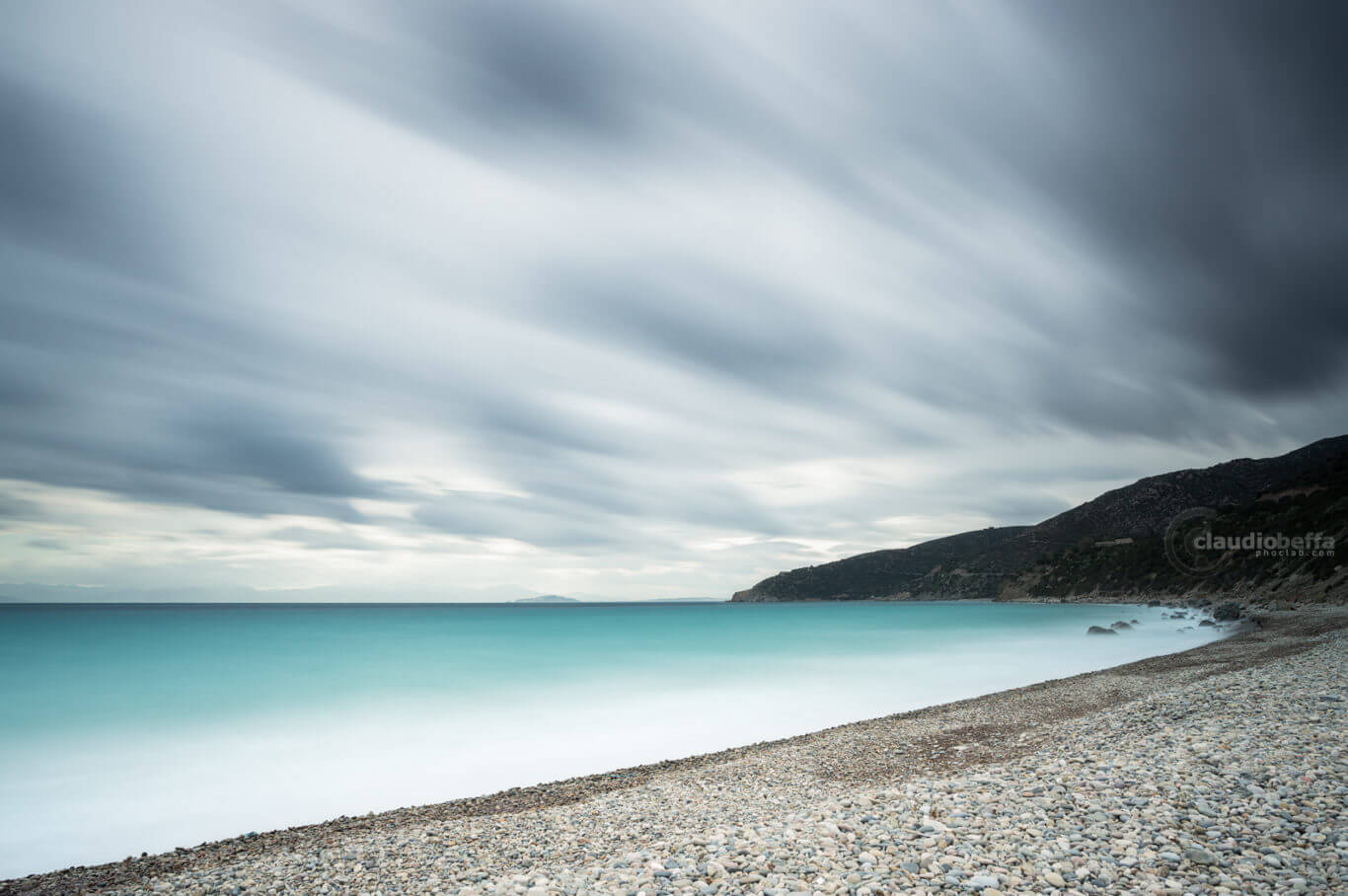 Seascape, Sea, Seashore, Clouds, Storm, Wind, Sardinia, Italy, Before the storm