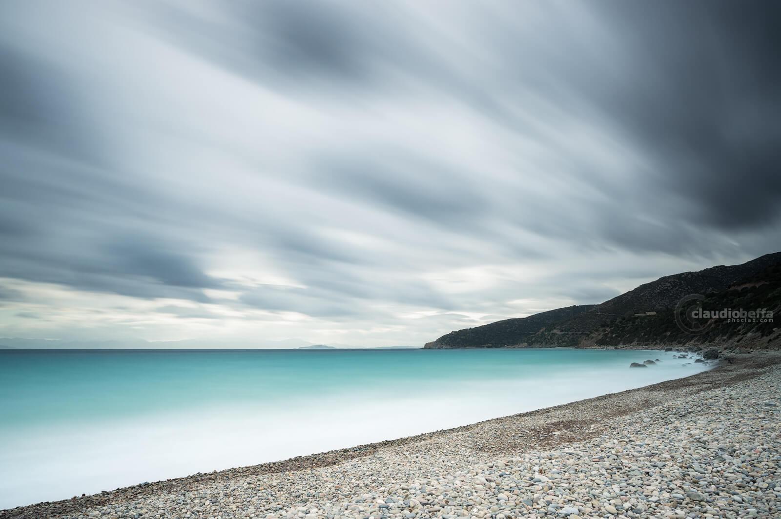 Seascape, Sea, Seashore, Clouds, Storm, Wind, Sardinia, Italy, Before the storm