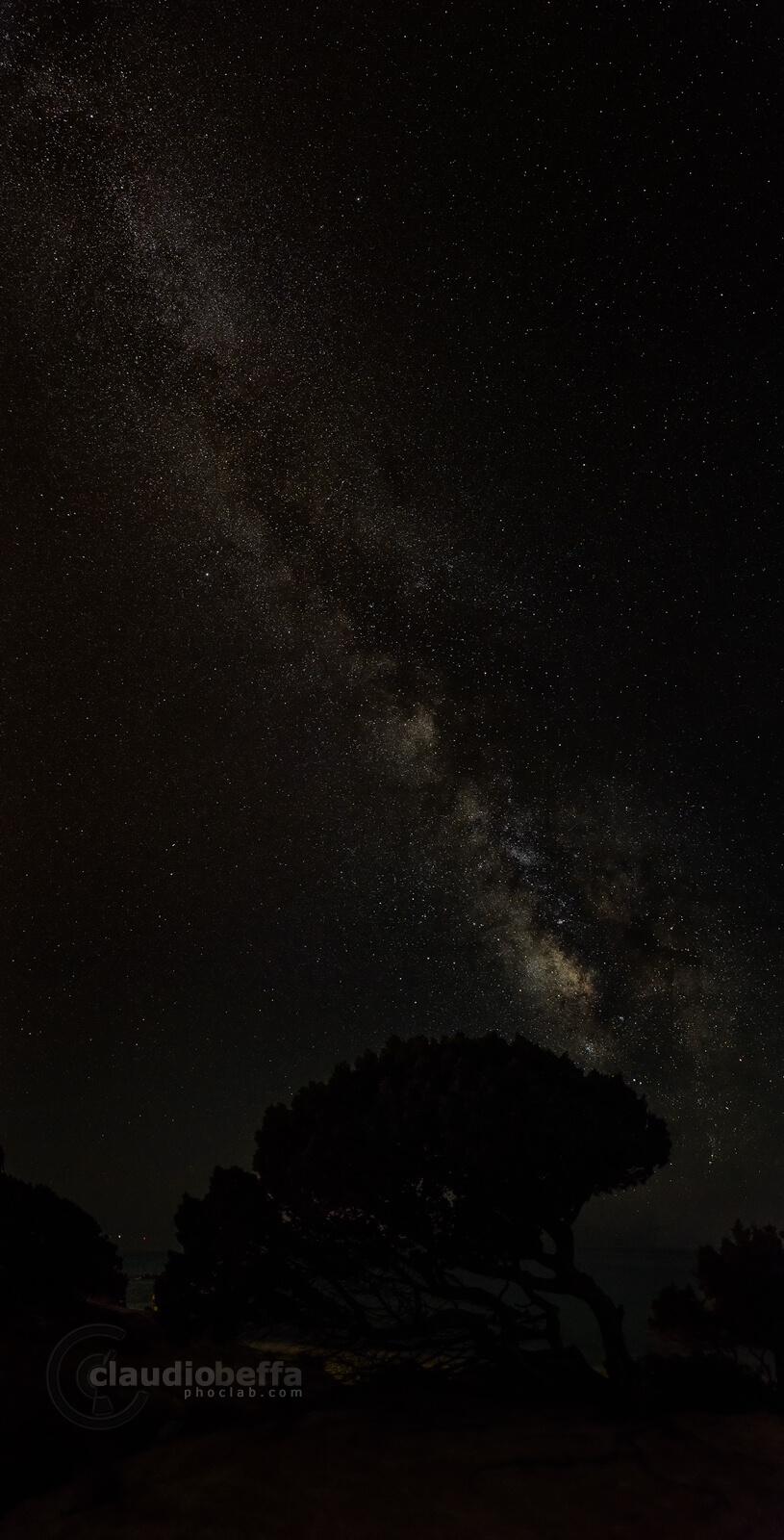 Milky Way, Stars, Sky, Night, Universe, Nightscape, Sardinia, Italy, Vertorama, Across the universe