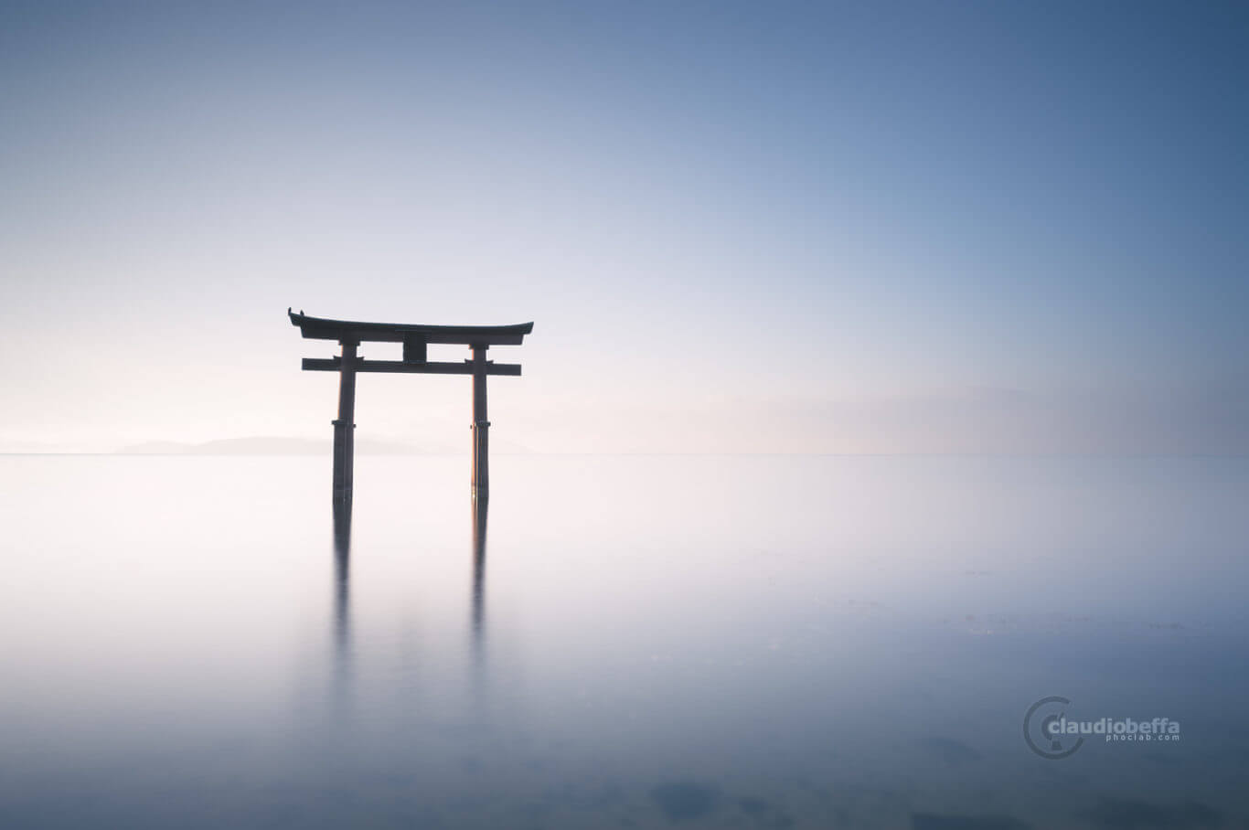 Gate to eternity, Gate, Torii, Shinto, Sunrise, Light, Water, Reflections