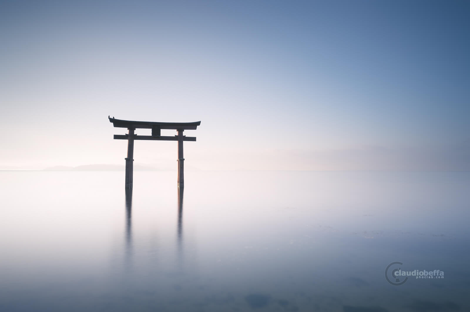 Gate to eternity, Gate, Torii, Shinto, Sunrise, Light, Water, Reflections