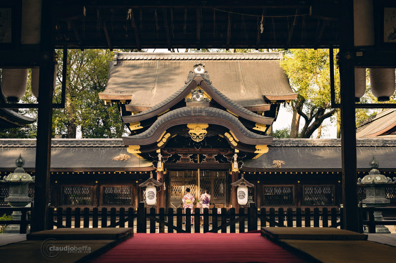 Visit to the shrine, Shrine, Shinto, Kimono