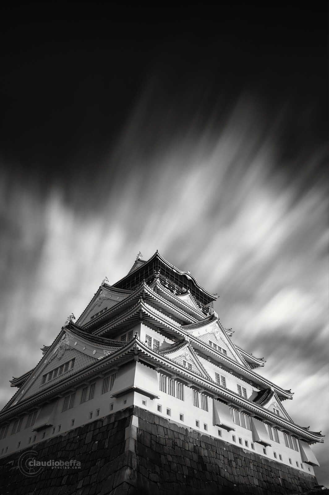 Fortress, Fortress of the sky, Castle, Japan, Osaka, Travel