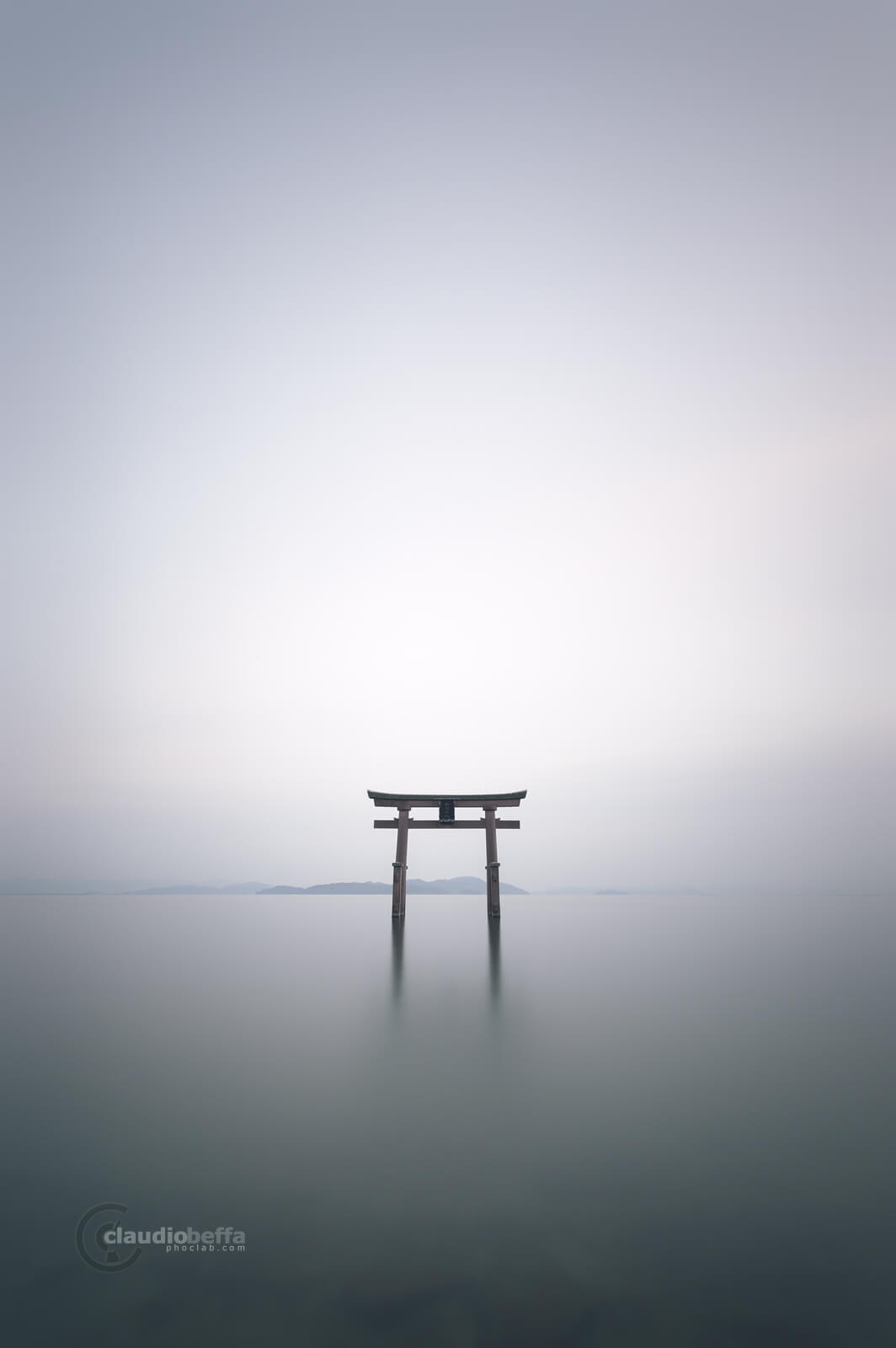 Illusion of time, Gate, Torii, Shinto, Sunset, Light, Water, Mountains, Time, Stillness, Reflections