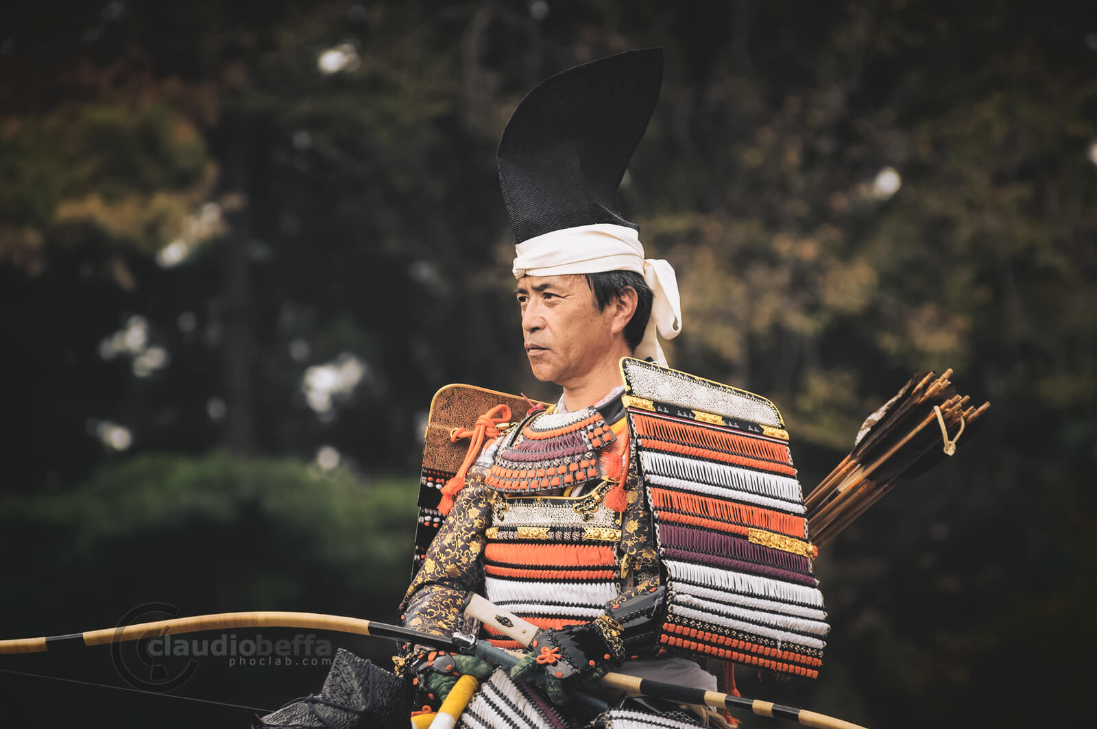 Mandokoro Shitsuji: samurai deputy of the shogunate. Yoroi, Armor, Yumi, Longbow, Jidai Matsuri, Festival, Kyoto, Japan, History, Tradition, Travel.