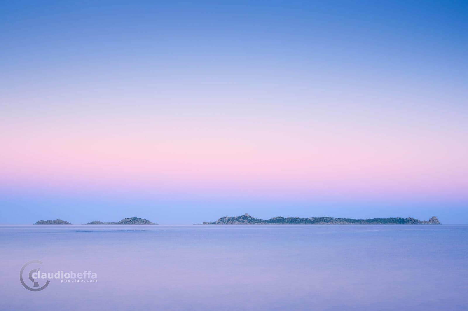 Softness, Italy, Sardinia, Island, Sea, Twilight, Seascape, Sunset, Nature, Pink, Blue, Soft, Long exposure