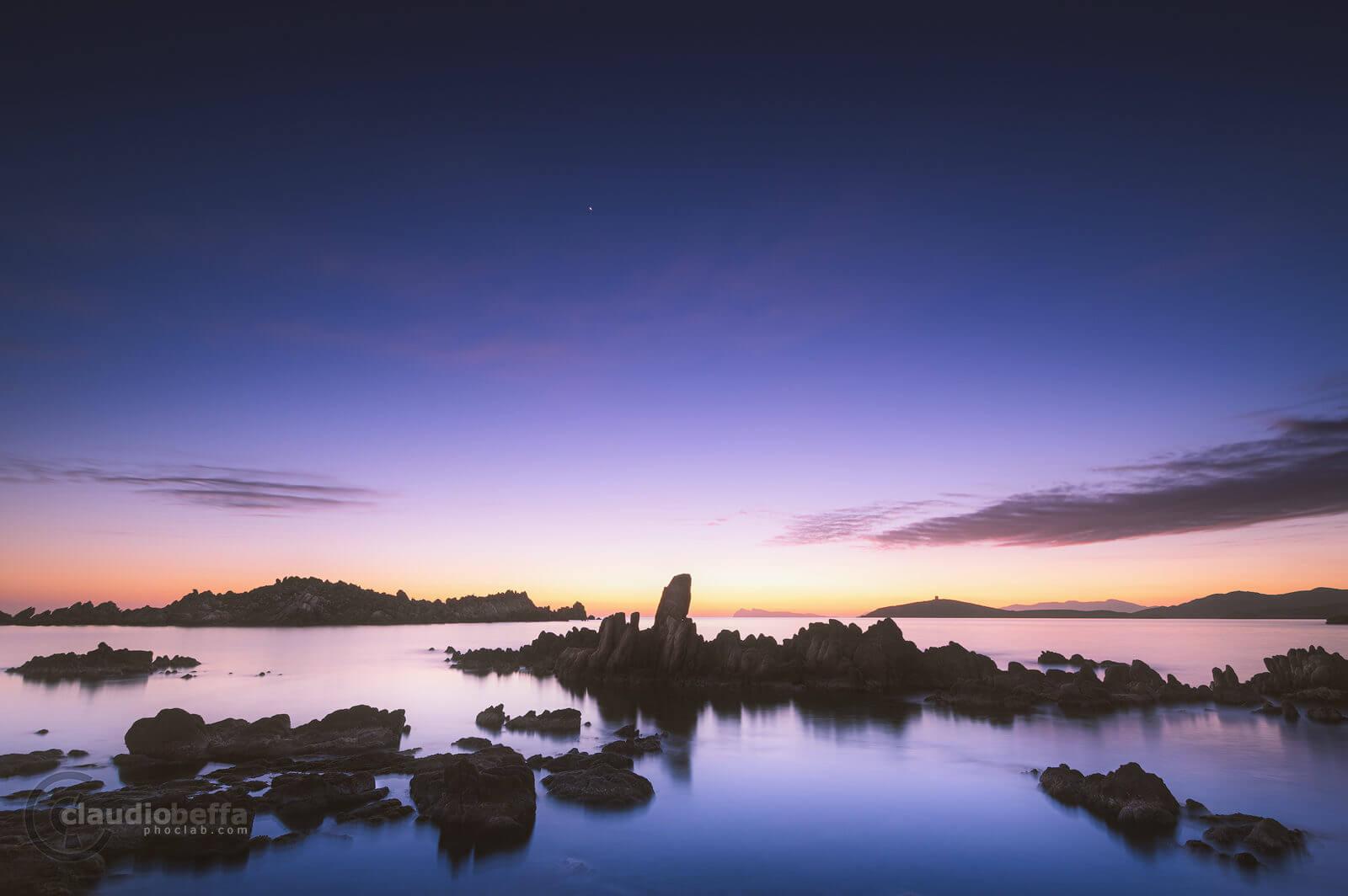 Watching the horizon, twilight, sunset, rocks, sea, sky, horizon, seascape, long exposure, sardinia, italy