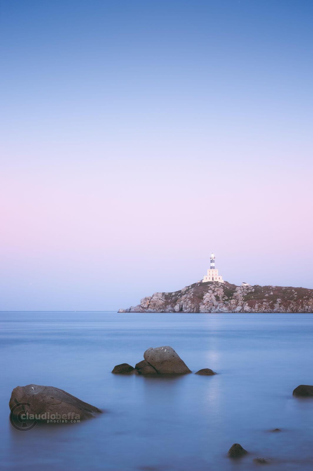 stillness, twilight, sea, sky, rocks, lighthouse, seascape, long exposure