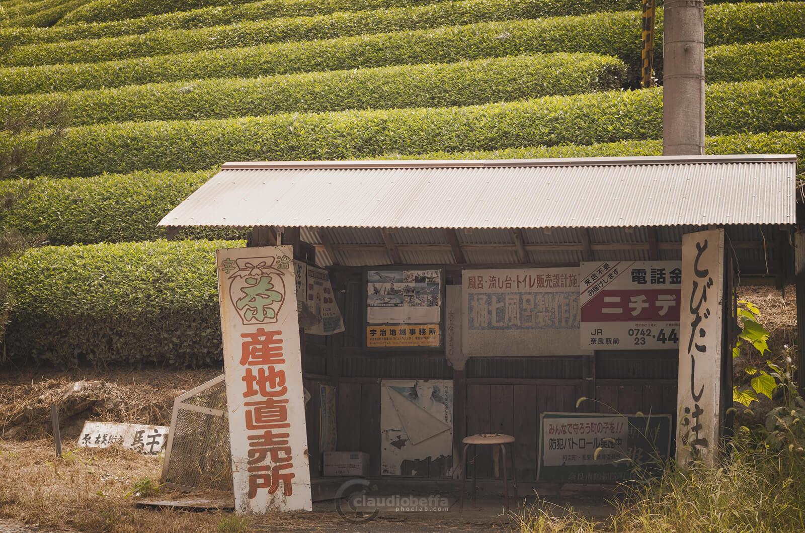 Bus stop at the tea field, Wazuka, Japan, Tradition, Travel.