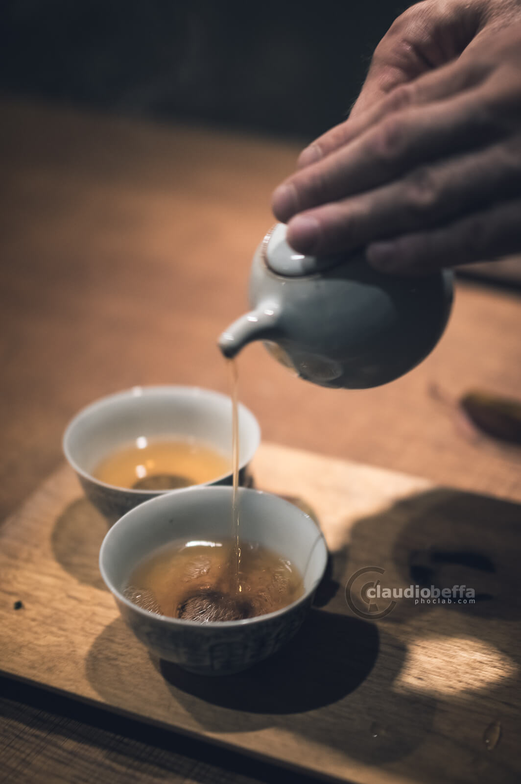 Pouring the tea in a tearoom of Kyoto Kyoto, Japan, Tradition, Travel.