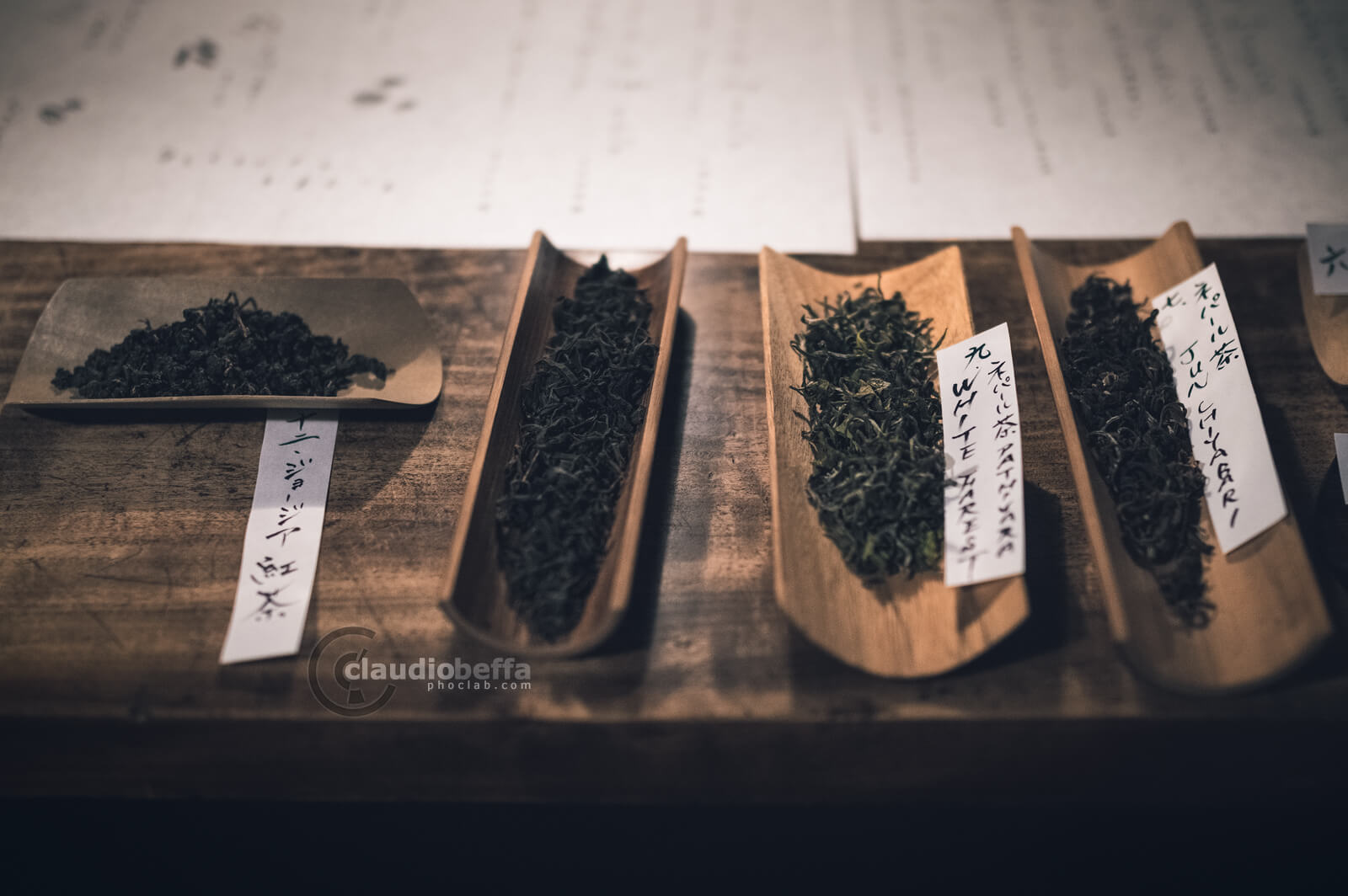 Selection of high grade teas from different countries, Japan, Tradition, Travel.