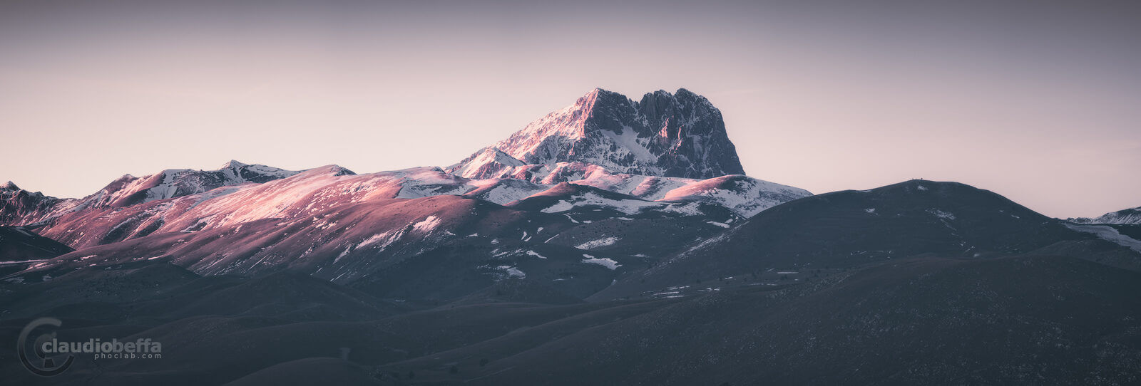 Great Horn, Abruzzo, Italy, Apennines, Rocca Calascio, Landscape, Sunset, Mountains, Winter, Snow, Nature, Panorama
