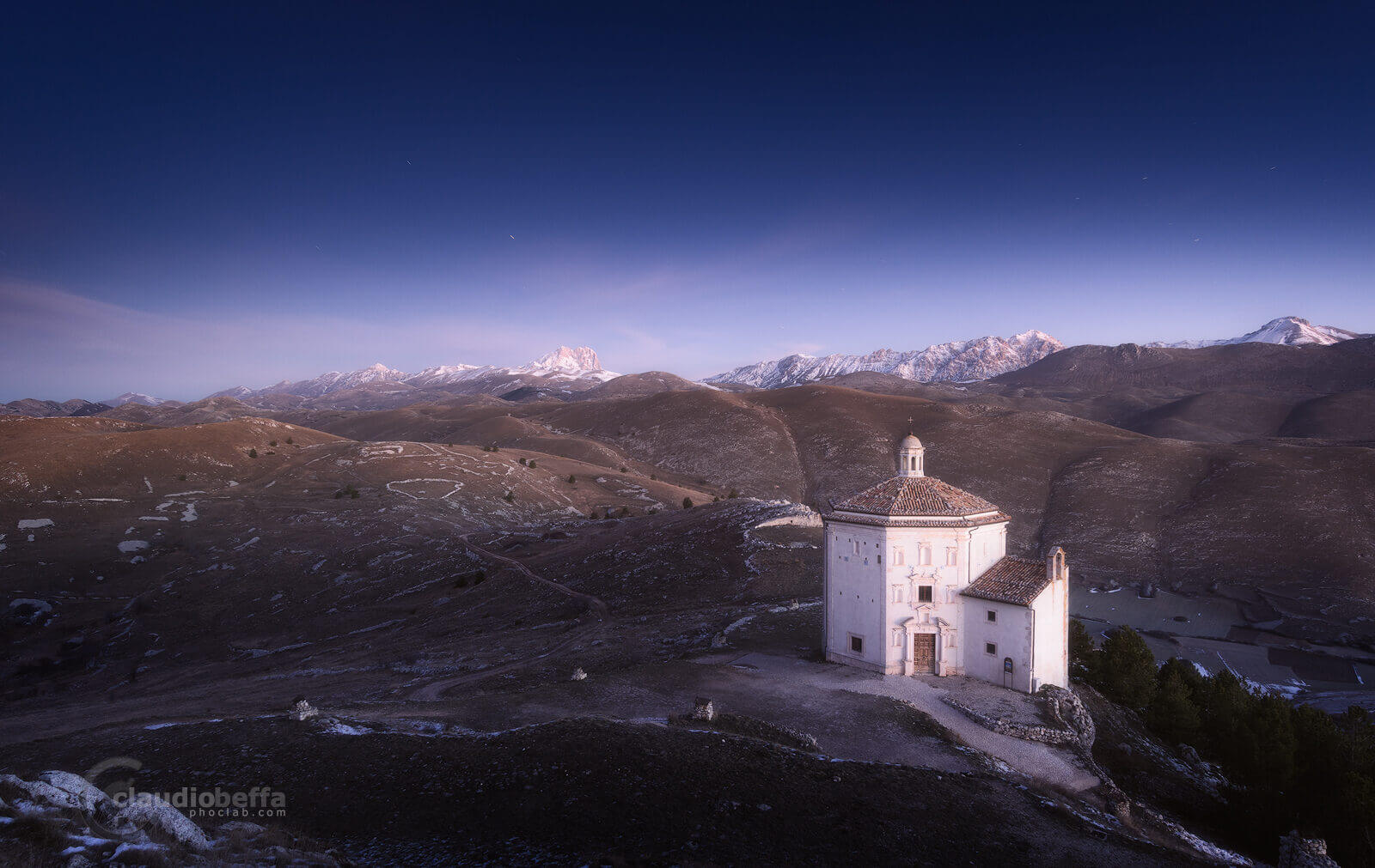 Winter silence, Rocca Calascio, Abruzzo, fortress, stronghold, italy, landscape, mountains, apennines, winter, sunrise, dawn