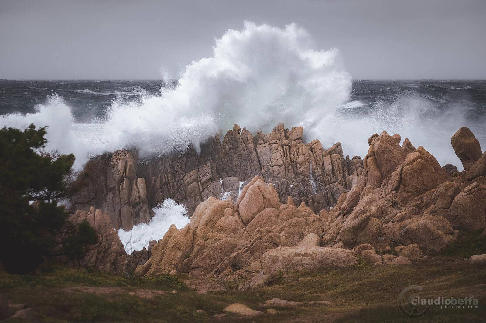 Sardinia, Sardegna, Italy, Sea, Storm, Waves, Rocks, Nature, Landscape, Seascape, Impact
