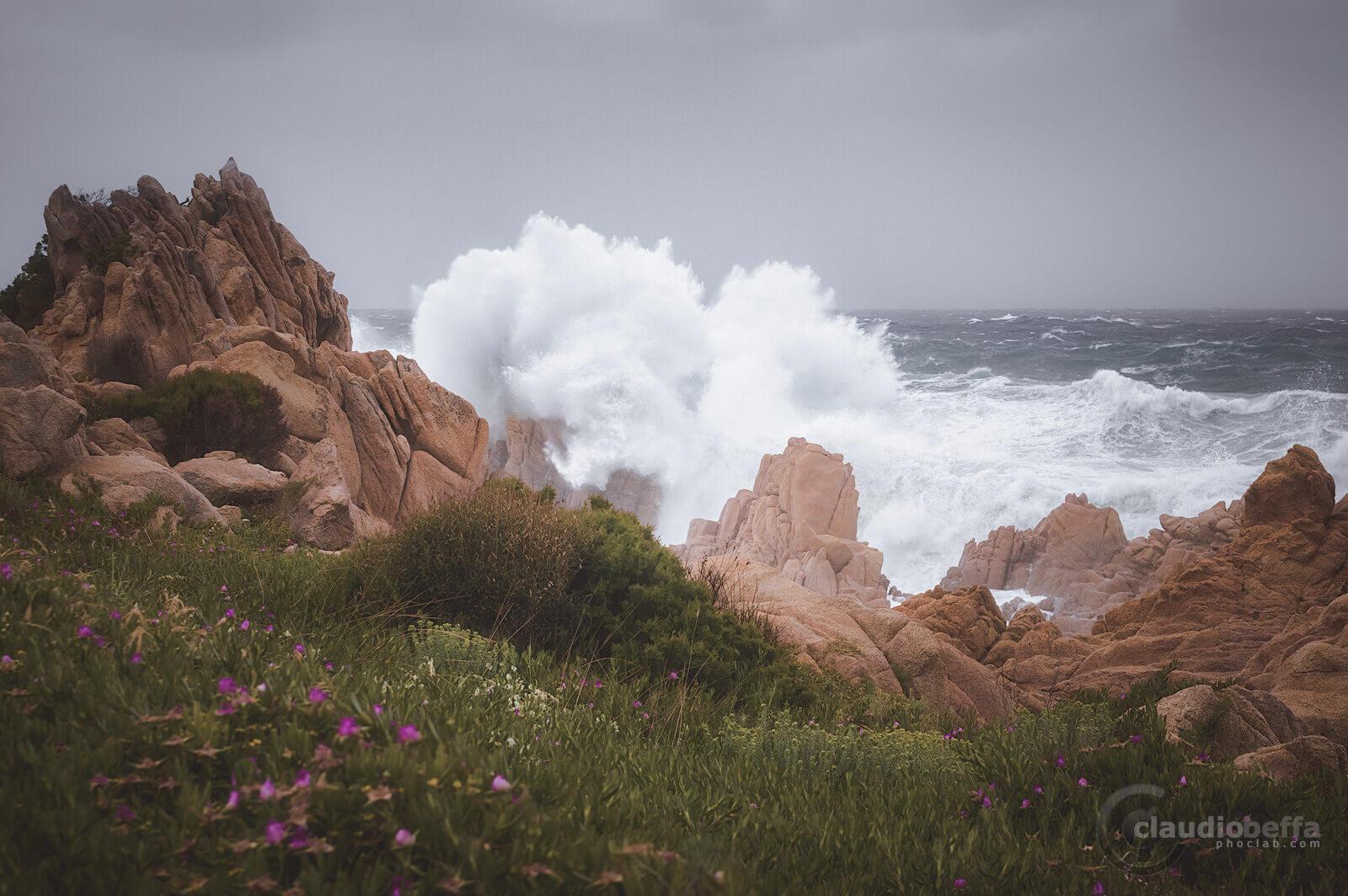 Sardinia, Sardegna, Italy, Sea, Storm, Waves, Rocks, Nature, Landscape, Seascape, Impact II