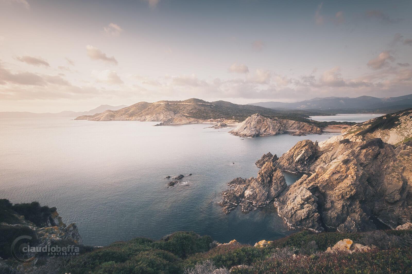 High nest, Sardinia, Sardegna, Italy, Sea, Seascape, Landscape, Sunset, Nature, Light, Rocks, Promontory, Coastline